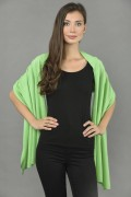 Pure Cashmere Wrap in Acid Green - made in Italy