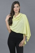 Pure Cashmere Wrap in Yellow - made in Italy