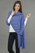 Pure Cashmere Wrap in Periwinkle Blue 03