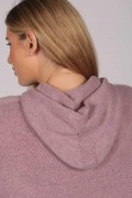 Antique Pink 100% Cashmere Hoodie for Women detail