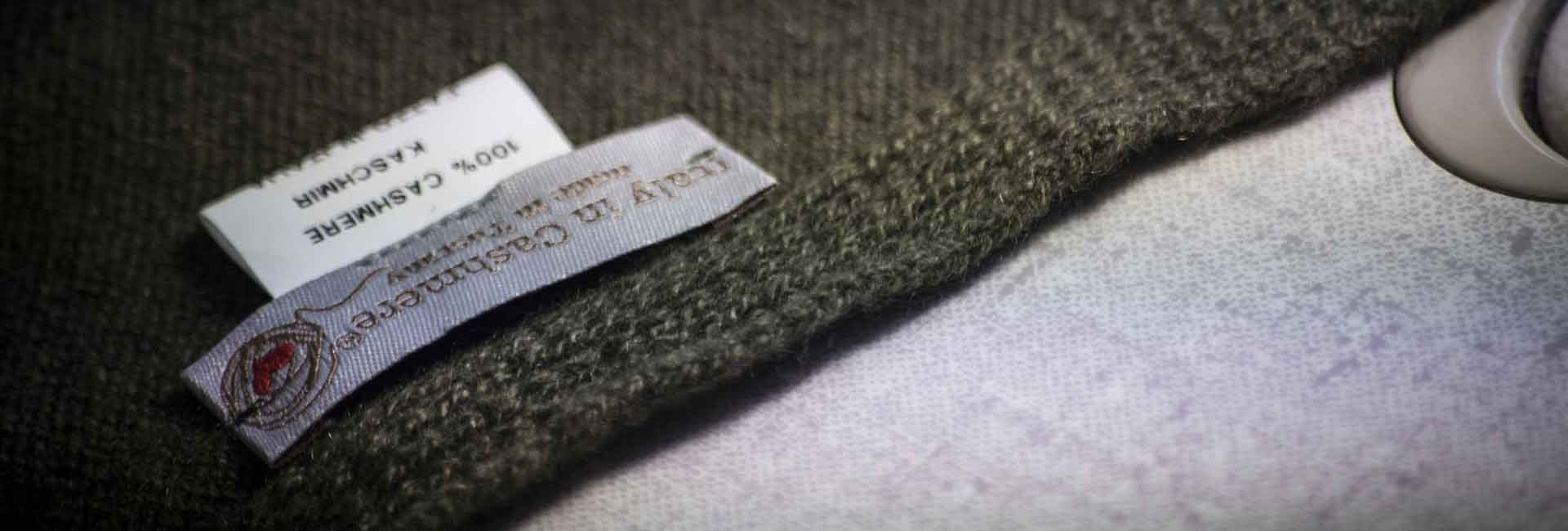 Italy in Cashmere pure cashmere wrap detail with label