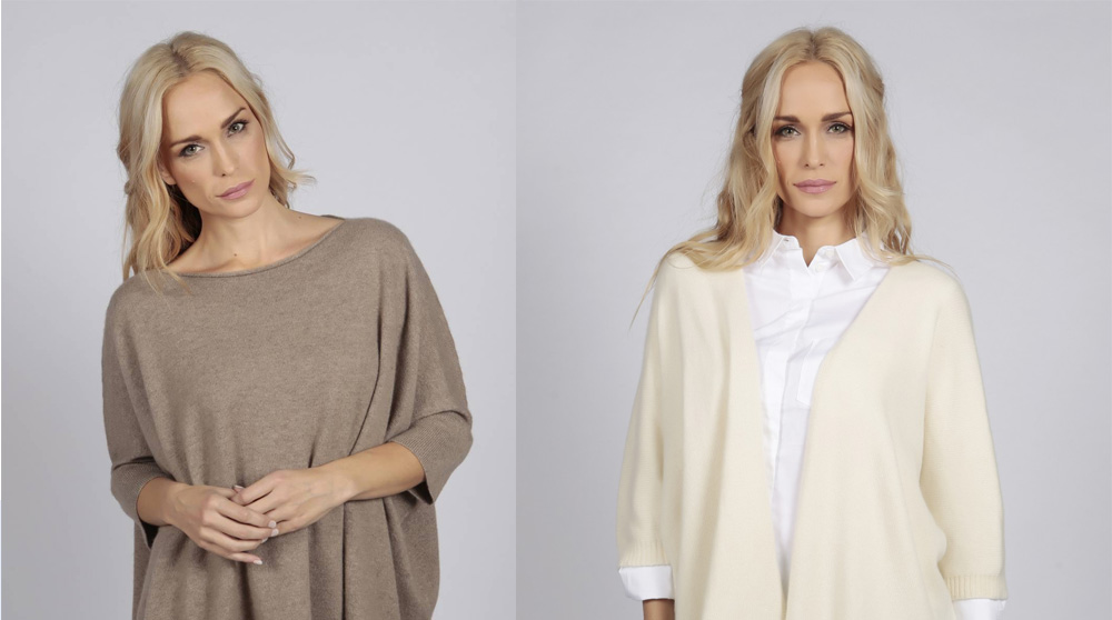 Cashmere jumpers and cardigans made in Italy