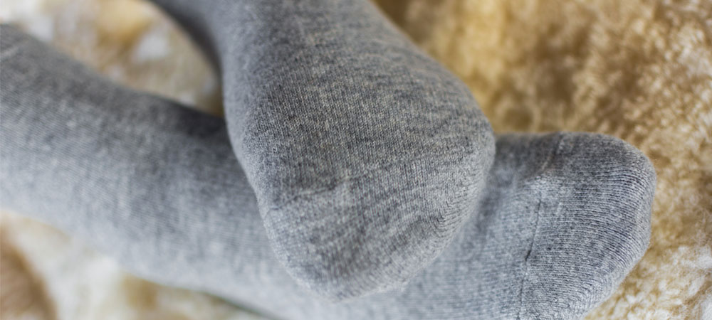 Grey Cashmere socks