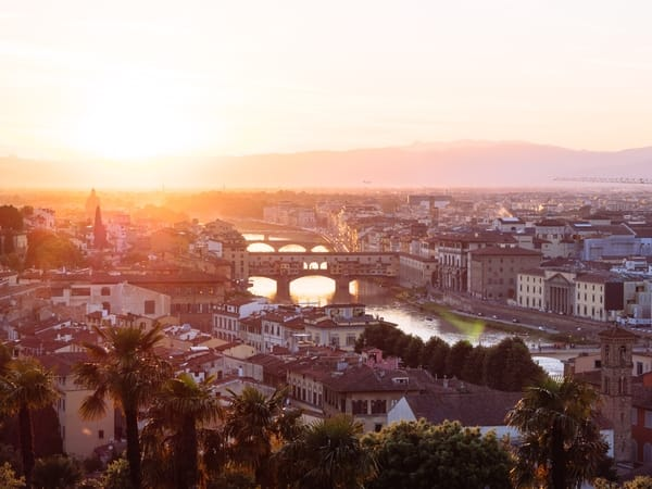 Sunset in Florence, Italy - from Piazzale Michelangelo