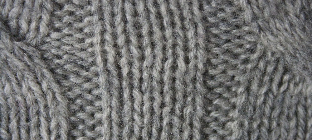Grey Cashmere knitted fabric