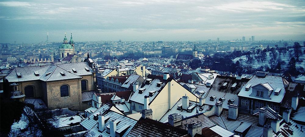 A winter scene in Prague