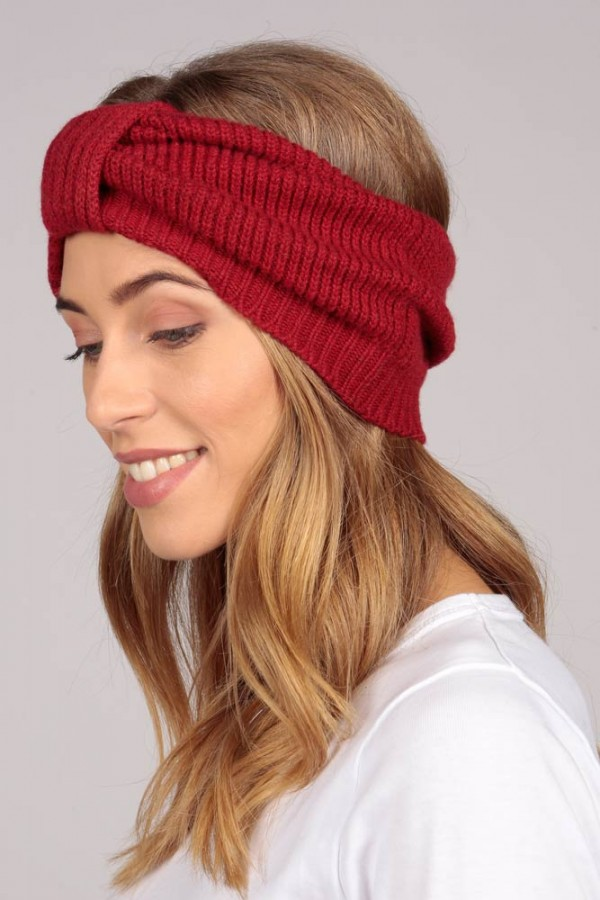 Cashmere headband red