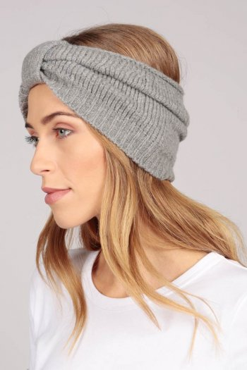 Cashmere headband light grey