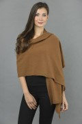 Knitted Pure Cashmere Wrap in Brown 2