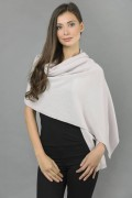 Knitted Pure Cashmere Wrap in Carousel Pink 2