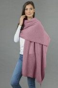 Pure Cashmere Wrap in Antique Pink 3