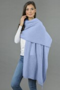 Pure Cashmere Wrap in Light Blue 1