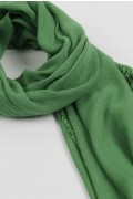 Lightweight Summer Scarf Shawl Wrap 100% Bamboo Green close-up 02