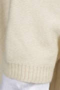 Cream white pure cashmere duster cardigan close-up